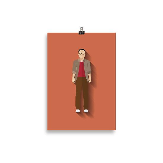 Poster Leonard Minimum - Coleção Seriados