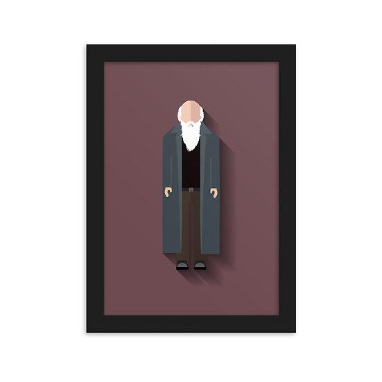 Fine Art Emoldurada Charles Darwin Minimum