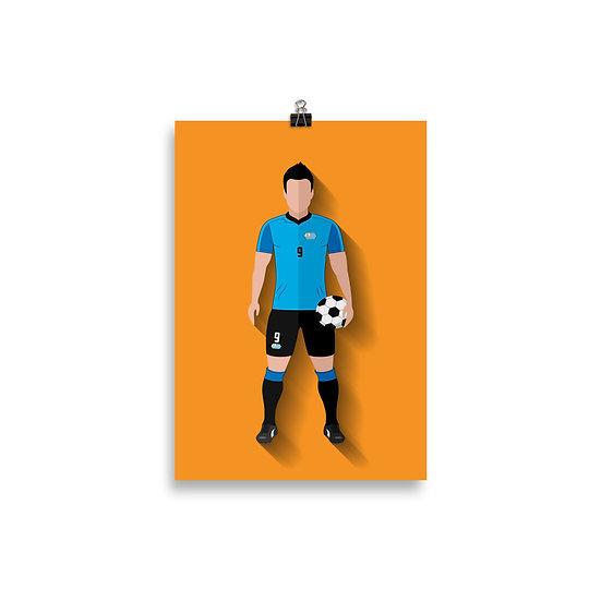 Poster Suarez Minimum - Coleção Atletas