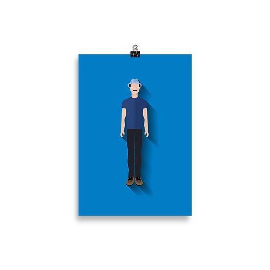Poster Seu Madruga Minimum - Coleção Turma do Chaves