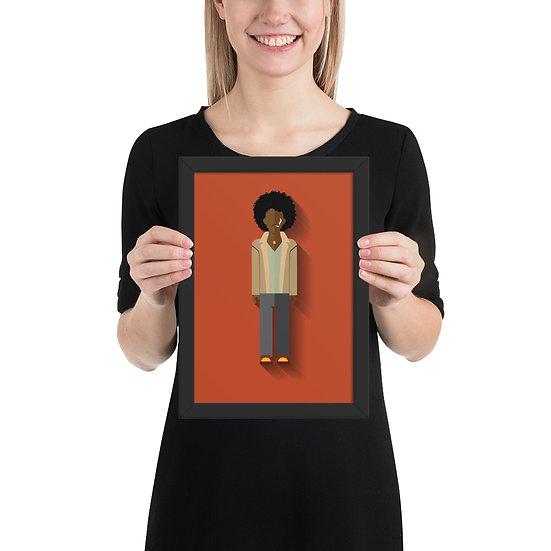 Fine Art Emoldurada Jimi Hendrix Minimum