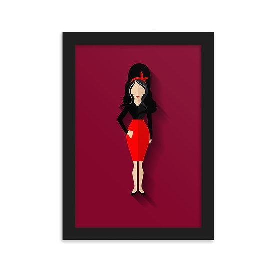 Fine Art Emoldurada Amy Winehouse Minimum