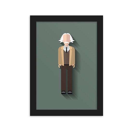 Fine Art Emoldurada Einstein Minimum
