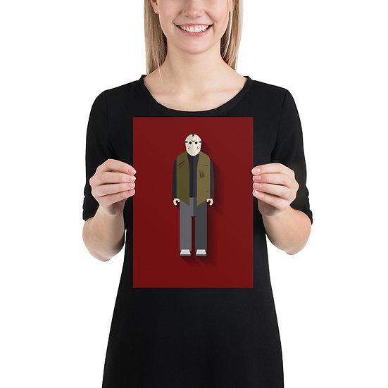 Poster Jason Minimum - Coleção Terror