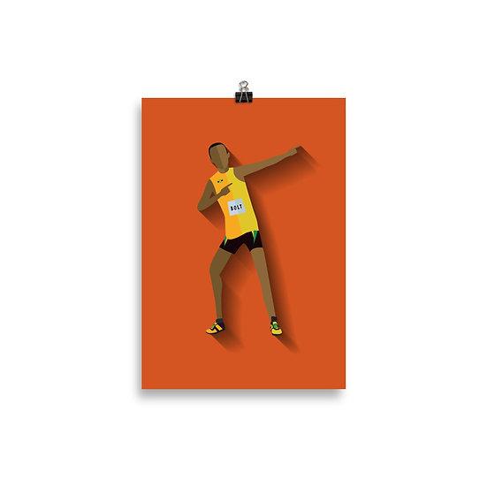 Poster Bolt Minimum - Coleção Atletas