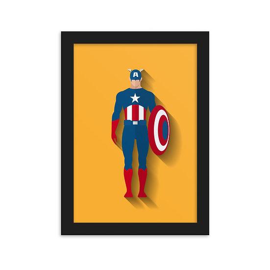 Fine Art Emoldurada Capitão America Minimum