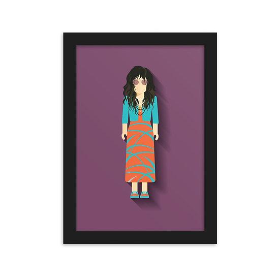 Fine Art Emoldurada Janis Joplin Minimum