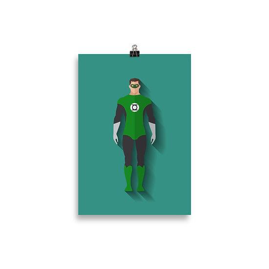 Poster Lanterna Verde Minimum - Coleção Heróis