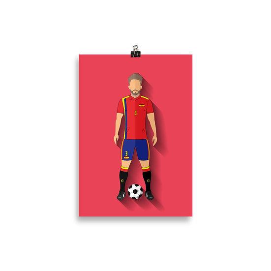 Poster Piqué Minimum - Coleção Atletas