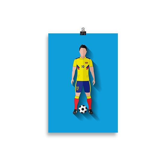 Poster James Rodriguez Minimum - Coleção Atletas