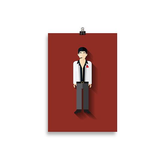 Poster Scarface Minimum - Coleção Clássicos do Cinema