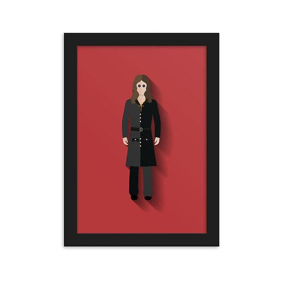 Fine Art Emoldurada Ozzy Osbourne Minimum
