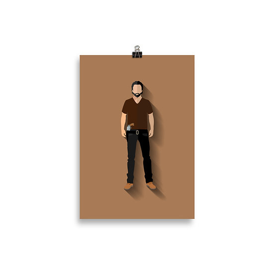 Poster Rick Minimum - Coleção The Walking Dead