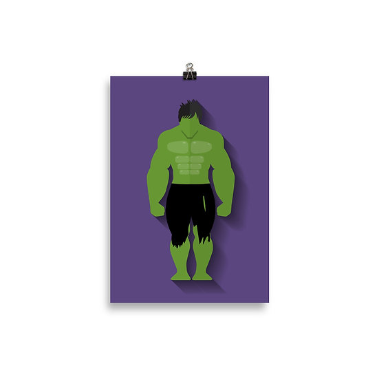 Poster Hulk Minimum - Coleção Heróis