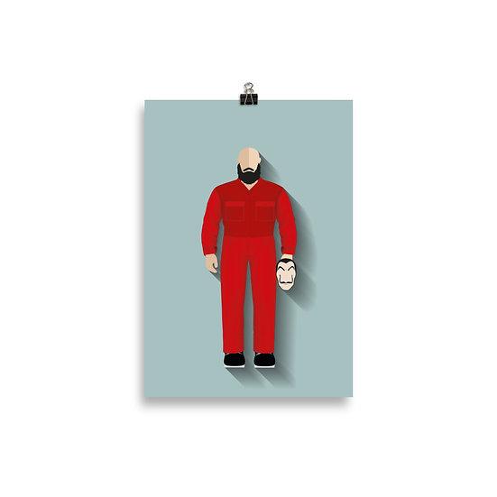 Poster Helsink Minimum - Coleção Seriados