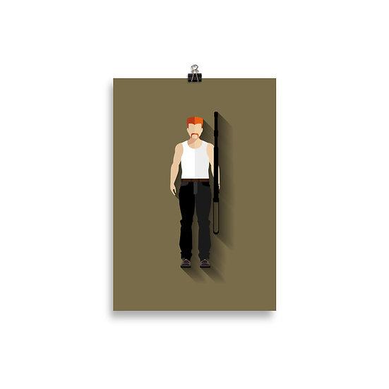 Poster Abraham Minimum - Coleção The Walking Dead