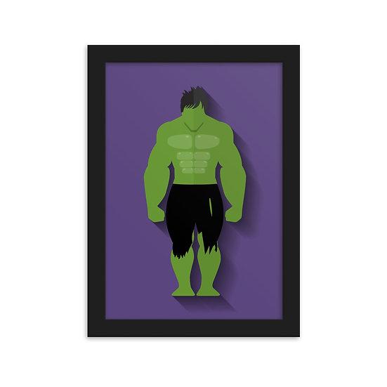 Fine Art Emoldurada Hulk Minimum