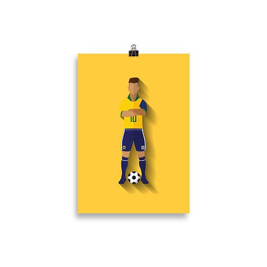 Poster Neymar Minimum - Coleção Atletas