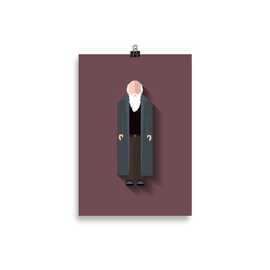 Poster Charles Darwin Minimum - Coleção Gênios