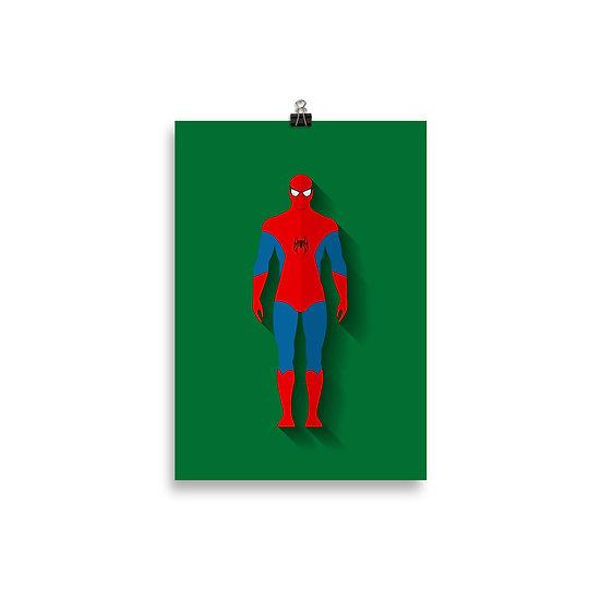 Poster Aranha Minimum - Coleção Heróis