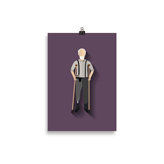 Poster Hershel Minimum - Coleção The Walking Dead