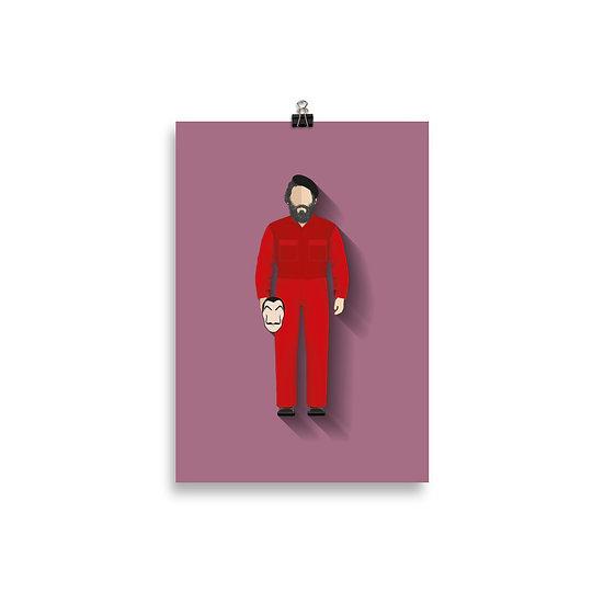 Poster Moscou Minimum - Coleção Seriados