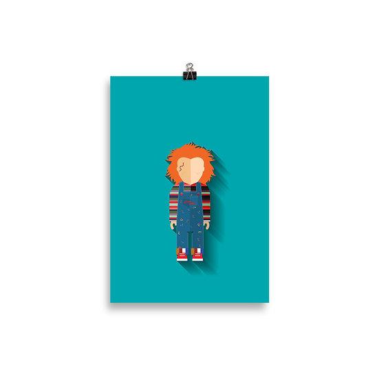 Poster Chuck o Boneco Assassino Minimum - Coleção Terror