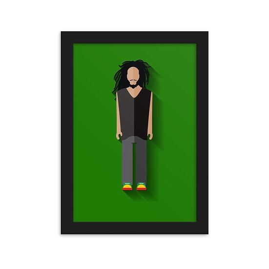 Fine Art Emoldurada Bob Marley Minimum