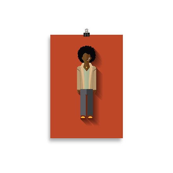 Poster Jimi Hendrix Minimum - Coleção Músicos