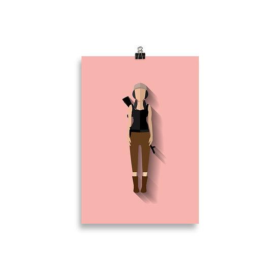 Poster Rosita Minimum - Coleção The Wlaking Dead