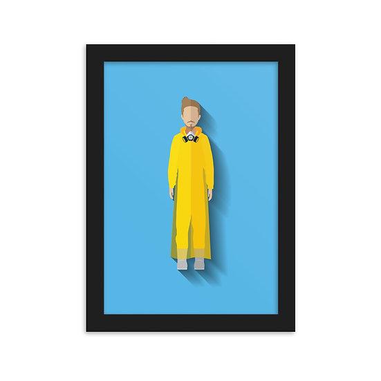 Fine Art Emoldurada Jesse Pinkman Minimum