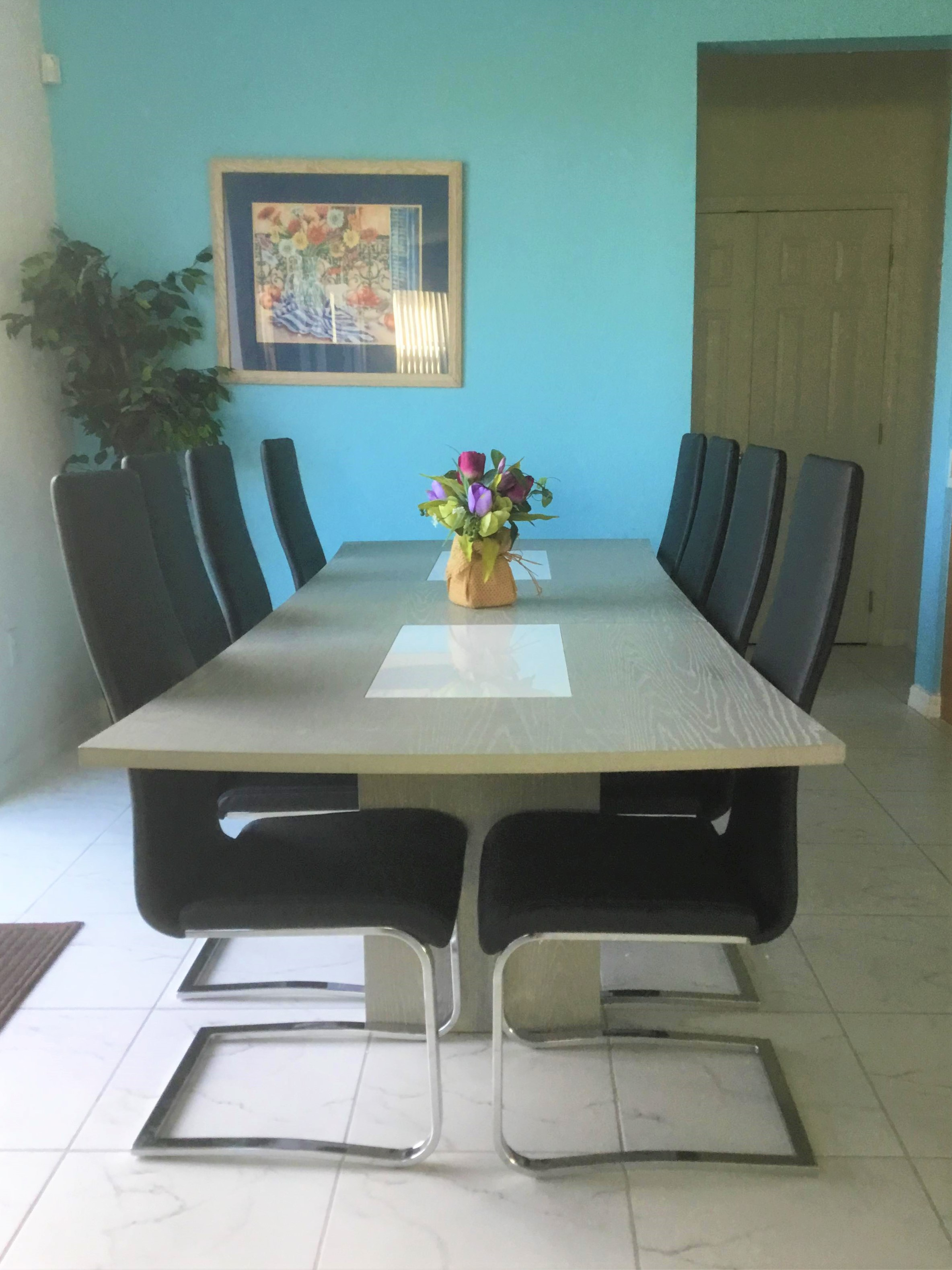 Table and Eight Chairs