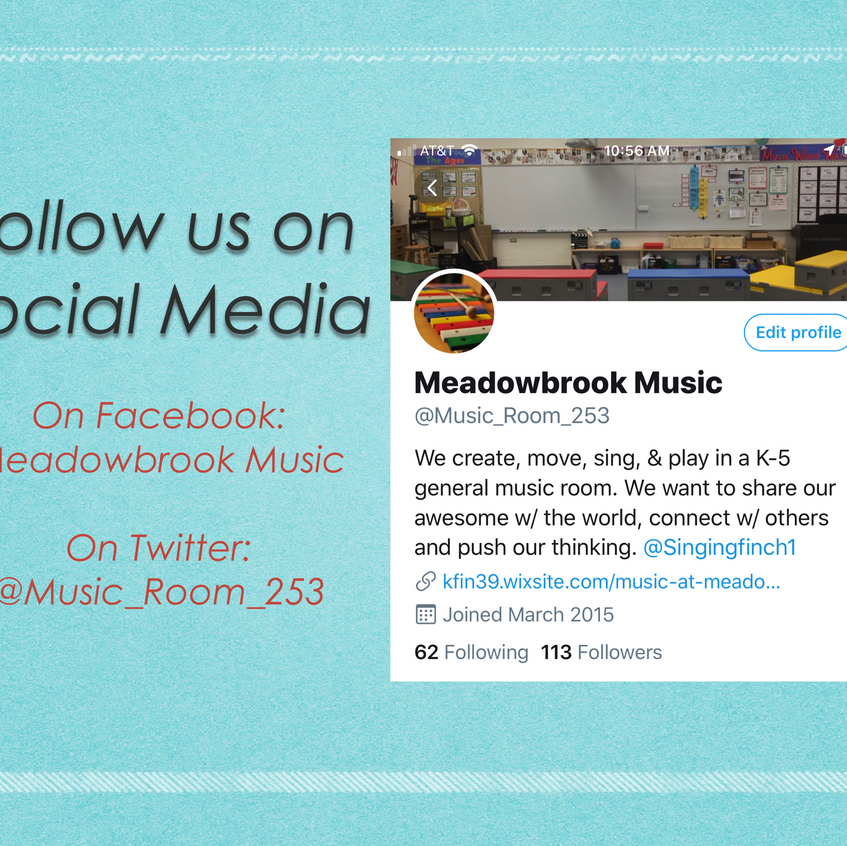 Follow us on social media.