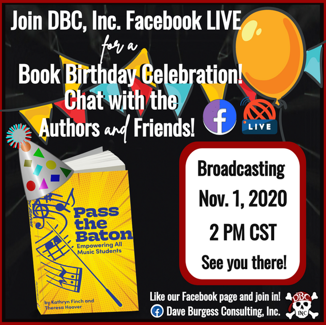 Join us tomorrow for a FB Live discussion about the book, Pass the Baton!