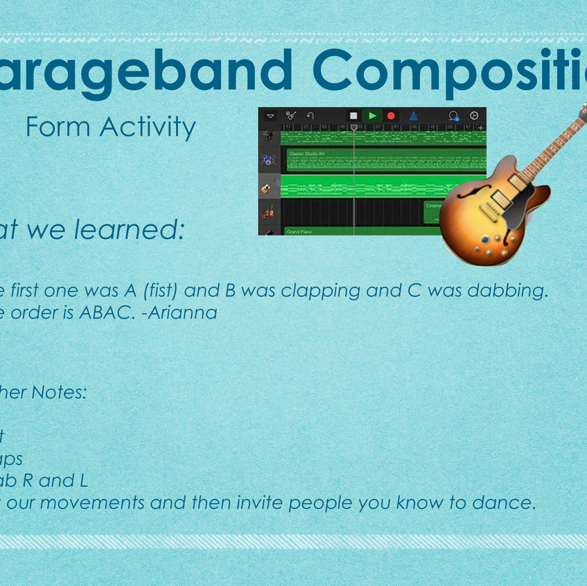 Form Composition Using Garageband