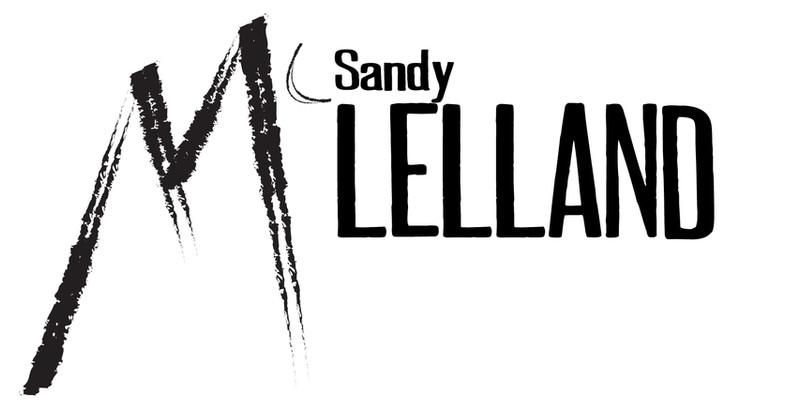 Sandy McLelland black on transparent log