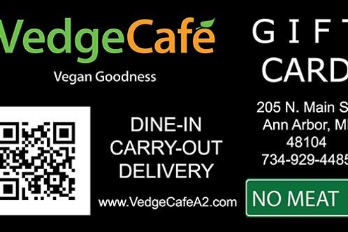 Vedge Cafe Gift Card