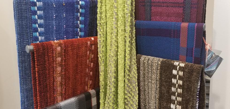 Handmade chenille scarves