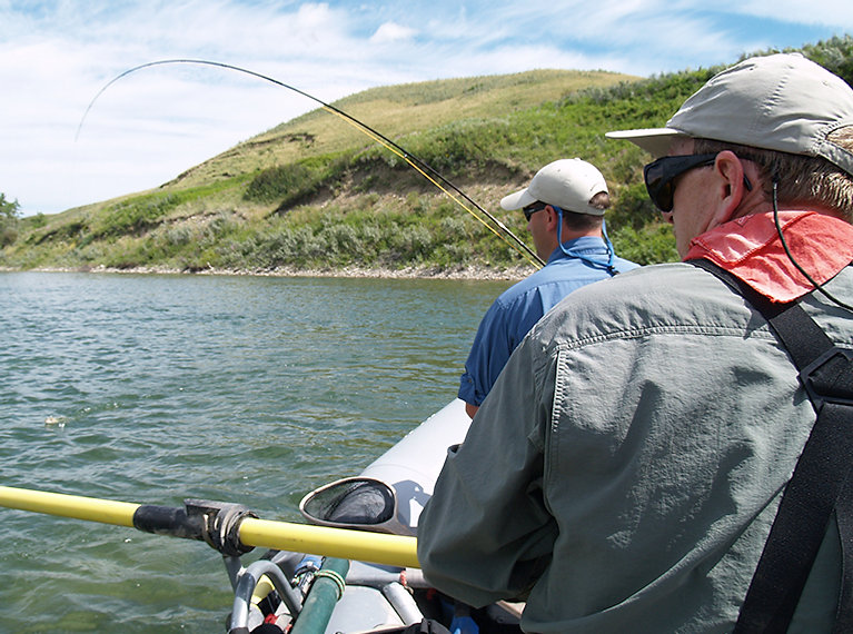 Flyfishing on the Waterton River