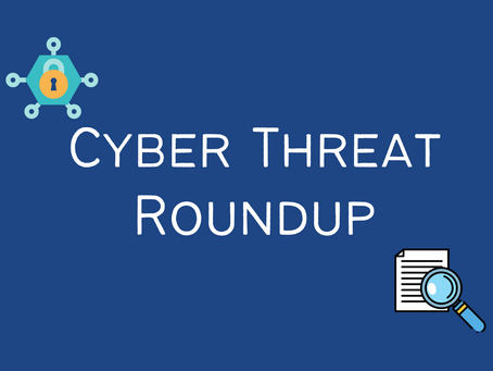 Cyber Threat Round-up 01/02/2021