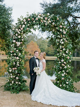 the woodlands country club weddings, montgomery wedding florist, wedding arch, wedding arbor