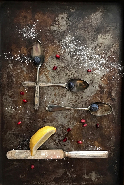 Blueberries and Spoons