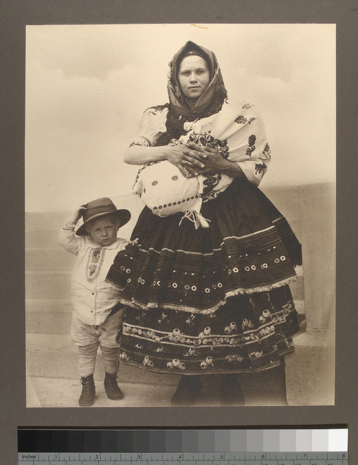 Slovakian Woman and Children
