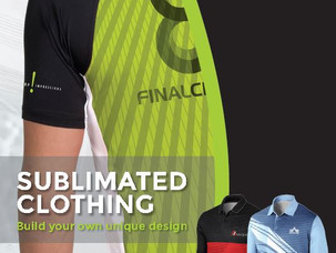 Sublimated clothing? - You're covered.
