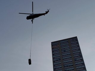 When the day at the office requires a helicopter…