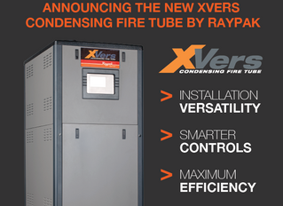 It's Here…Introducing the new XVERS Condensing Fire Tube by Raypak!
