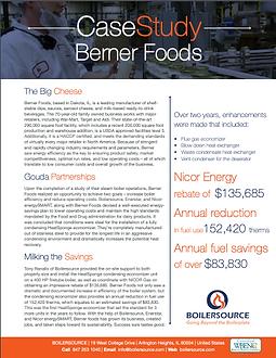 Berner Foods Case Study