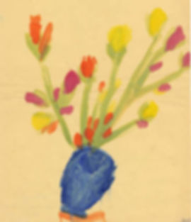childhood painting by Cindy Revell done at age 6