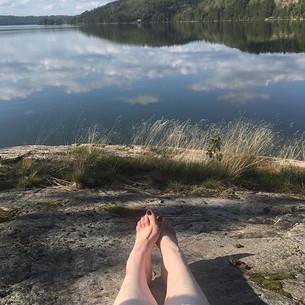 Hiking & swimming at Atikameksheng, September 2018