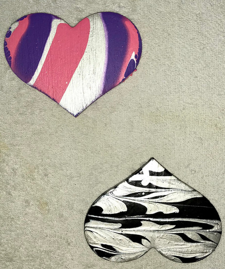 Paperweight hearts